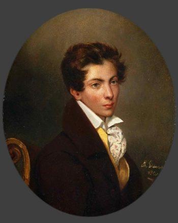 Portrait of Eugene Berny d'Ouville   Ferdinand-Victor-Eugene Delacroix   oil painting