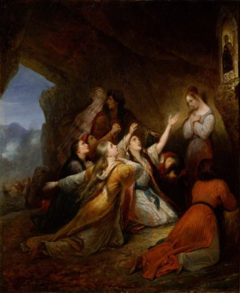 Greek Women Imploring at the Virgin of Assistance | Ary Scheffer | oil painting