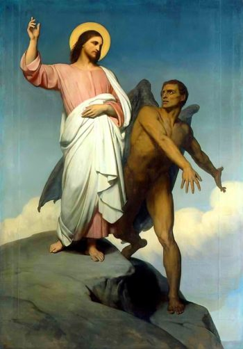 The Temptation of Christ | Ary Scheffer | oil painting