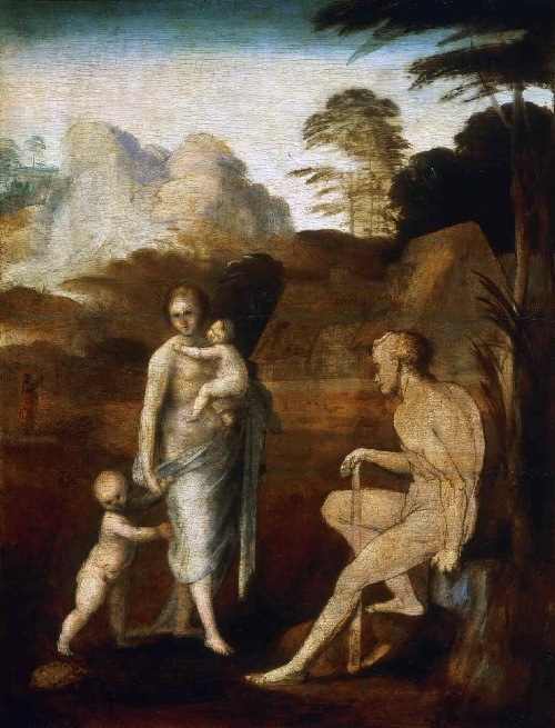 Adam and Eve with Cain and Abel | Fra Bartolomeo (Bartolomeo di Paolo) | oil painting
