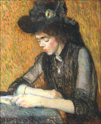 A Girl Reading | Leo Gestel | oil painting