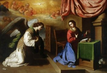 The Annunciation | Francisco de Zurbaran | oil painting