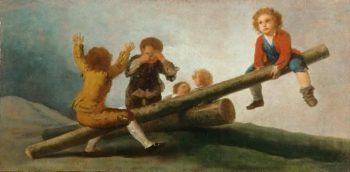 The Seesaw | Francisco Jose de Goya y Lucientes | oil painting