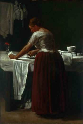 Woman Ironing | Francois Bonvin | oil painting