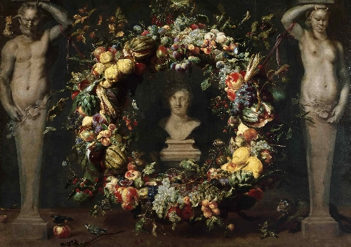 Still Life with Terms and a Bust of Ceres | Frans Snyders | oil painting