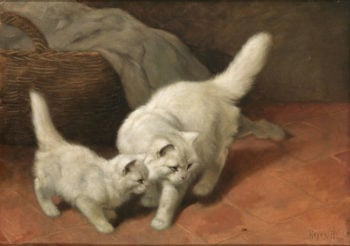 Cats and Ladybugs | Arthur Heyer | oil painting