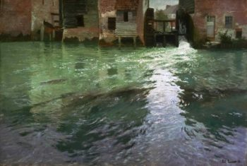 Water Mill | Frits Thaulow | oil painting