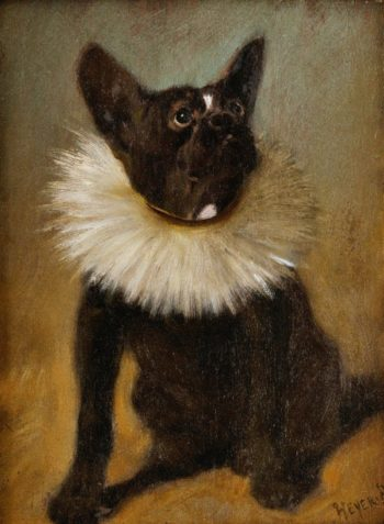 French bulldog | Arthur Heyer | oil painting