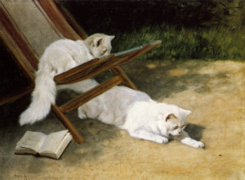 Persian Cats | Arthur Heyer | oil painting