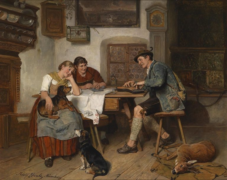 A Musical Entertainment | Adolf Eberle | oil painting