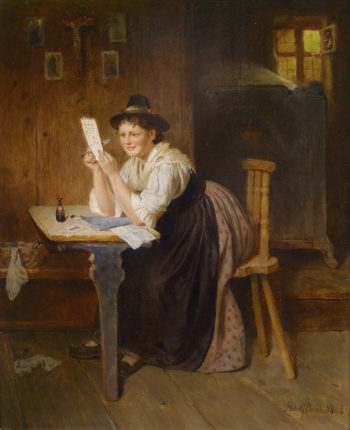 The Letter | Adolf Eberle | oil painting