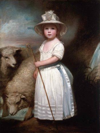 Shepherd Girl (Little Bo-Peep) | George Romney | oil painting