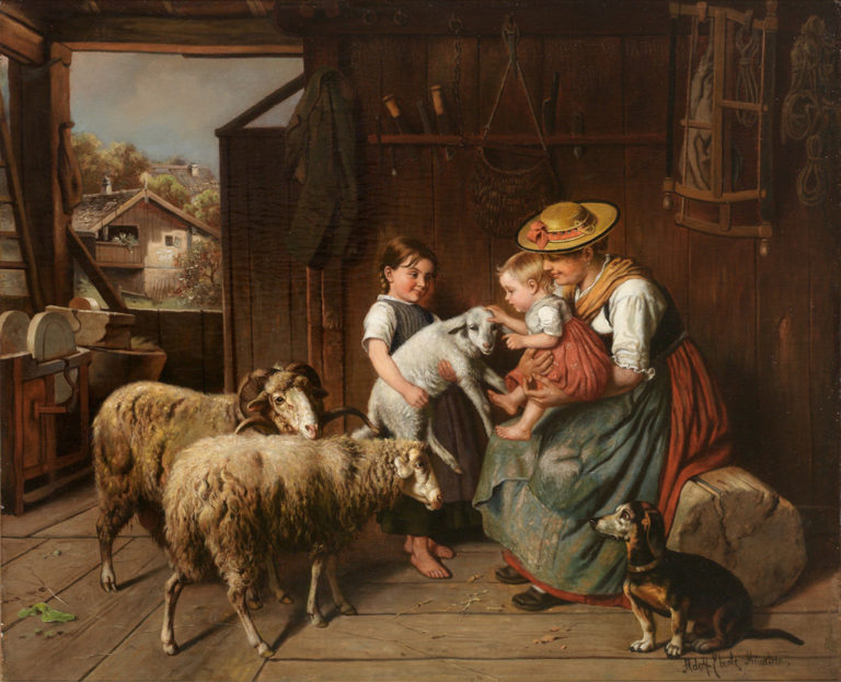 The Little Darling | Adolf Eberle | oil painting