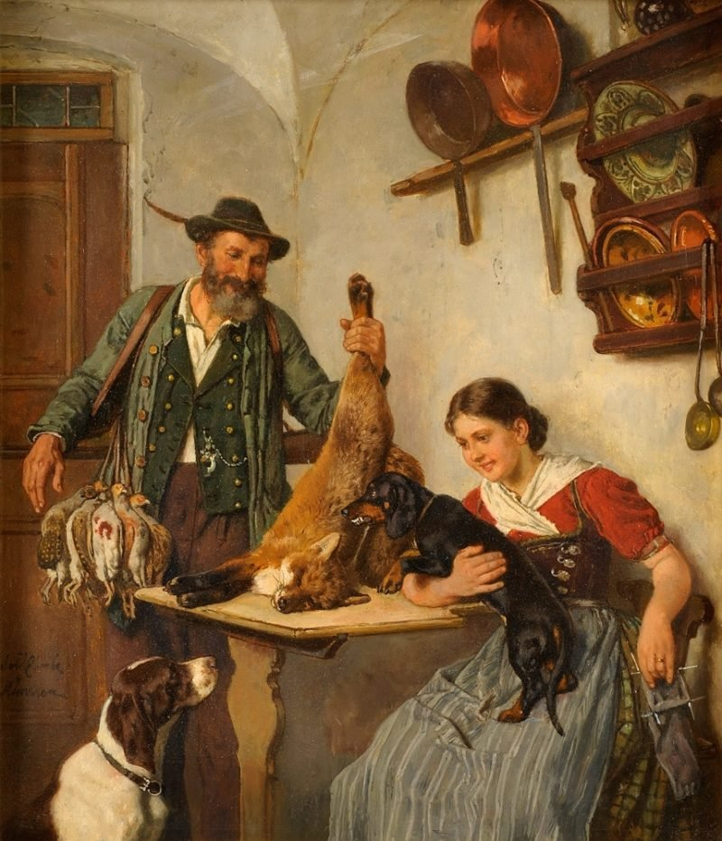 A successful hunt | Adolf Eberle | oil painting