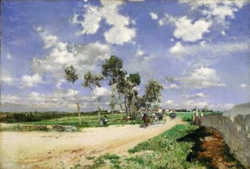 Highway of Combes-la-Ville | Giovanni Boldini | oil painting