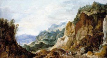 Mountainous Landscape I | Joos de Momper the Younger | oil painting