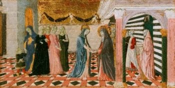 Virgin Returning to the House of Her Parents | Giovanni di Pietro also called Nanni di Pietro | oil painting
