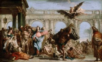 The Miracle of the Pool of Bethesda | Giovanni Domenico Tiepolo | oil painting
