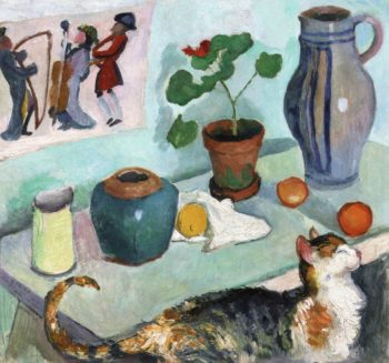 The Spirit of the House Still Life with Cat | August Macke | oil painting
