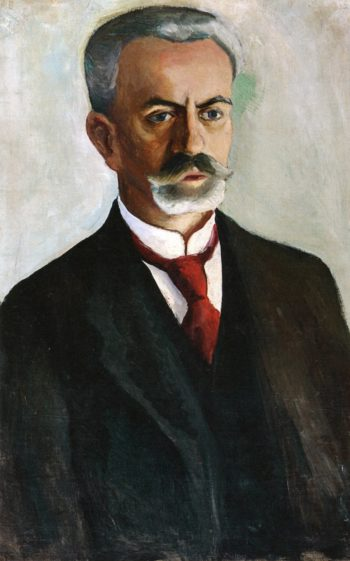 Portrait of Bernhard Koehler | August Macke | oil painting
