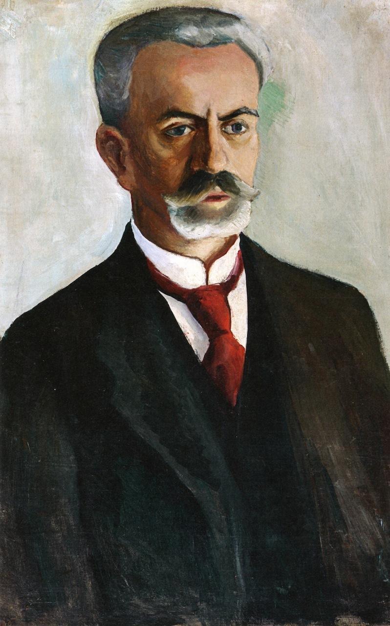 Portrait of Bernhard Koehler | August Macke | oil painting