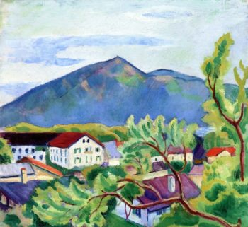 Spring Landscape in Tegernsee | August Macke | oil painting