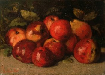 Still Life with Apples and a Pear | Gustave Courbet | oil painting