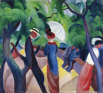Promenade | August Macke | oil painting