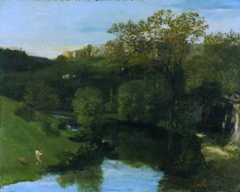 Valley | Gustave Courbet | oil painting