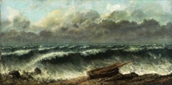 Waves | Gustave Courbet | oil painting