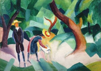 Children with Goat | August Macke | oil painting