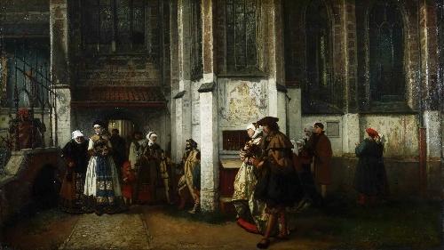 Faust and Marguerite v3 | Hendrik Jan August Leys | oil painting
