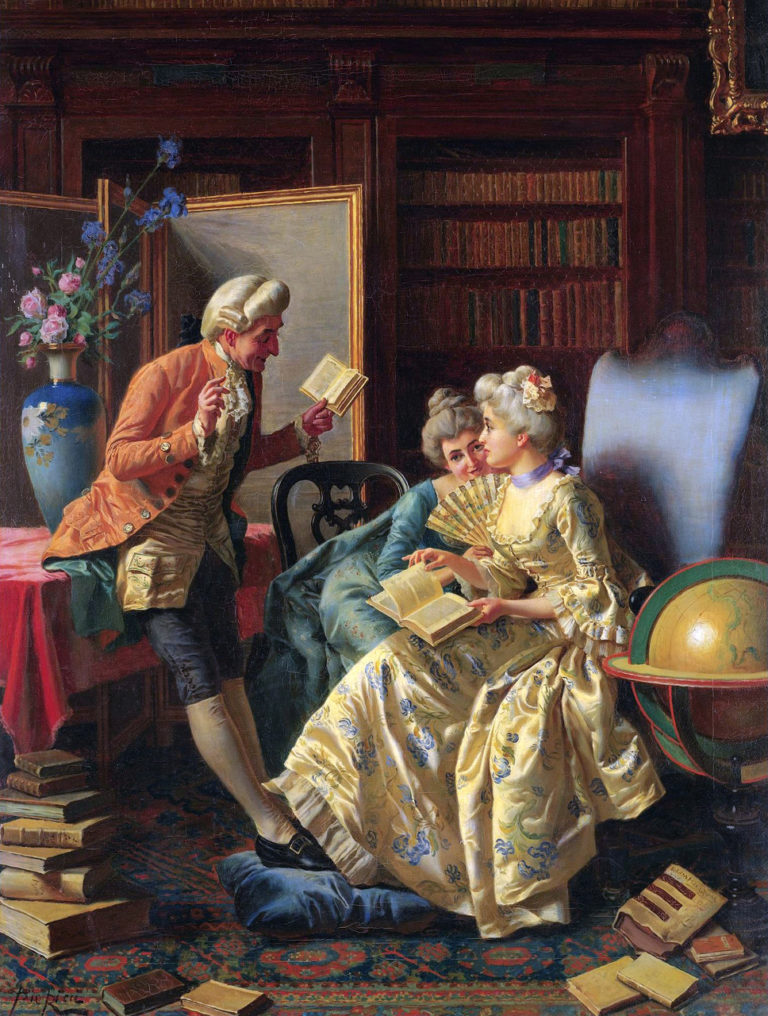 In the Library | Pio Ricci | oil painting