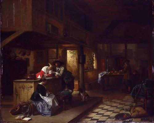Interior of an Inn | Hendrik Jan August Leys | oil painting