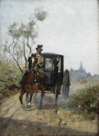 Carriage | Henri de Toulouse-Lautrec | oil painting