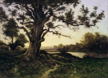 Oak | Henri-Joseph Harpignies | oil painting