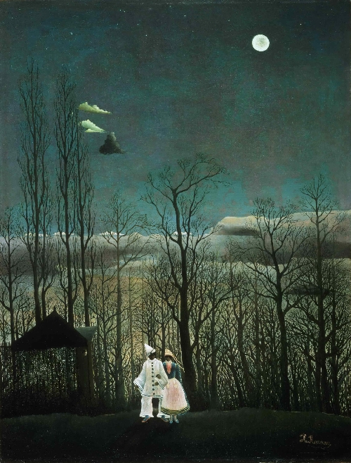 Carnival Evening   Henri-Julien-Felix Rousseau   oil painting
