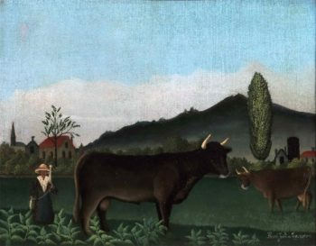 Landscape with Cattle | Henri-Julien-Felix Rousseau | oil painting