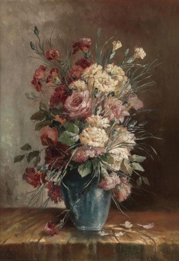 Carnations in Vase | Karl Vikas | oil painting