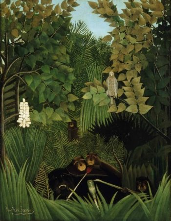 The Merry Jesters | Henri-Julien-Felix Rousseau | oil painting