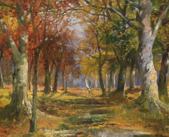 Forest in Autumn | Karl Vikas | oil painting