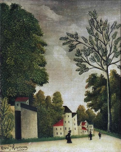Village Street   Henri-Julien-Felix Rousseau   oil painting