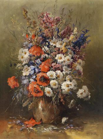 Large Bouquet Of Summer Flowers | Karl Vikas | oil painting