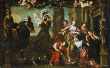 Achilles Among the Daughters of Lycomedes | Henry Benbridge | oil painting
