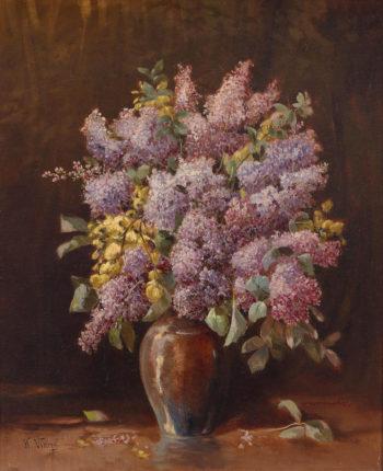Lilacs in a Vase II | Karl Vikas | oil painting