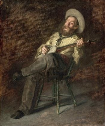 Cowboy Singing | homas Eakins | oil painting