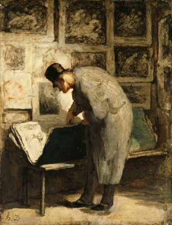 The Print Collector | Honore Daumier | oil painting