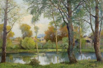 Pond in Radkersburg | Karl Vikas | oil painting