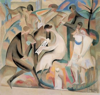 A Concert in the Garden | Alice Bailly | oil painting