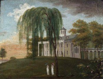 Home of George Washington   J. Wiess   oil painting